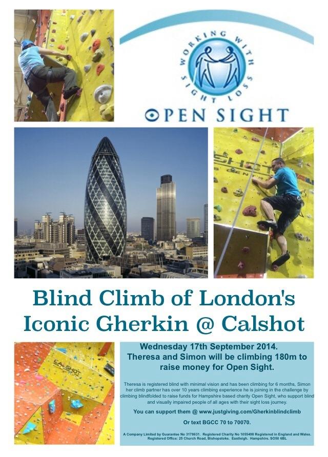 Gherkin Blind Climb poster