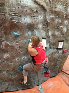 Image of me on Boulder 2 struggling to get my feet and hands right to move forward