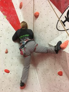 This photograph is of boulder 2, I managed to get one hand hold higher having moved my right foot to a higher hold.