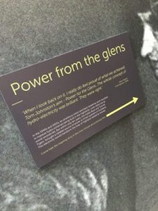 Photograph of a plaque within the visitor centre with a quote from one of the civil engineers who helped design the dam