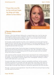 Photograph with my image in the top right corner and a bio about me. The full text is available online to read