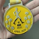 Yellow medal staring 50 miles walked