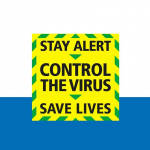 Uk gov poster reads, stay alert, control the virus, save lives